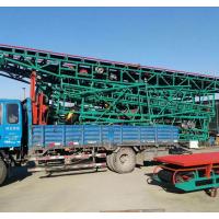 青岛工厂货物出库皮带输送机 润众80cm宽橡胶带运输机