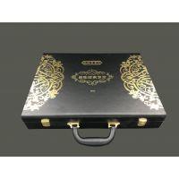 厂家直销黑色PU皮盒 化妆品盒 冻干粉包装盒 礼品盒