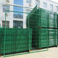 绿化带围栏网 双边丝护栏网价格 小区浸塑防护网