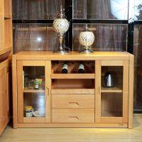侧璃门抽槽架柜 凭祥多容餐储柜 南宁实木中式家具