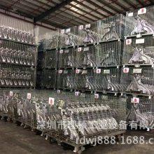厂家批发铁线网格仓储笼镀锌货架仓储笼工业装货铁线框折叠蝴蝶笼