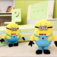 批发3D眼卑鄙的我2小黄人公仔 会发光会唱歌版神偷奶爸毛绒玩具
