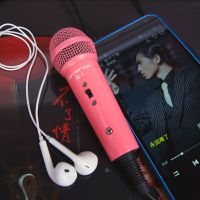 声林 唱吧麦克风苹果安卓手机专用迷你电容有线 电脑k歌yy话筒