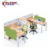 佛山办公家具批发简约现代电脑桌职员员工桌4人位办公桌椅组合