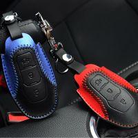 厂家批发福特野马mustang改装专用钥匙包 免手缝真皮智能钥匙套