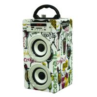 现货促销Musiccrown木质便携式户外旅行蓝牙音箱卡拉OK派对K歌收音机音箱