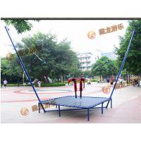 郑州藏龙游乐室外儿童钢架蹦极价格