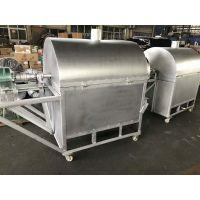 不锈钢滚筒炒货机 大型电加热温控炒货机