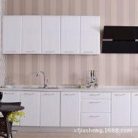 厂家供应整体厨房家用橱柜 可以定做 不锈钢台面柜面【图】
