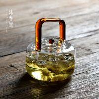 耐热玻璃方把提梁壶 烧水沸水壶 煮茶器 花茶壶 电陶炉明火加热壶
