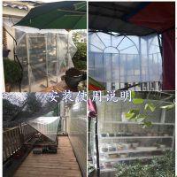 遮雨挡雨布透明防水棚子车棚塑料布加厚阳台顶棚篷布大棚防雨布