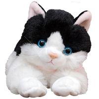 厂家批发仿真小猫咪公仔毛绒玩具小花猫 加菲猫摆件玩偶 礼品外贸