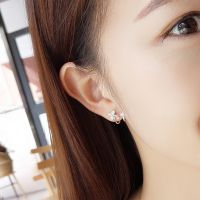 厂家直销蝴蝶耳扣银饰品女款 s925银耳钉耳环韩版气质表白礼物