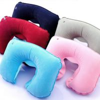 K 旅行开车用品 U形充气枕头 护颈枕 旅行枕 飞机枕