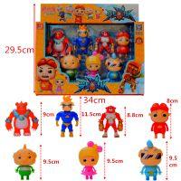 猪猪菲菲波比动漫公仔变身战队套装儿童卡通玩具7个装批发