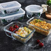 迷你餐盒打包易清洗专用微波炉可加热玻璃饭盒保鲜盒单个餐具小型