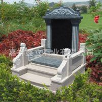 厂家批发石雕陵园墓碑 天然青石中式欧式墓碑 黑色大理石碑
