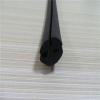 供应橡胶黑色三口条 夹5mm玻璃3mm钣金密封条