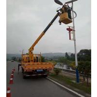 4吨随车吊吊电线杆工作视频 也可加装吊篮转高空作业随车吊 上蓝牌价格表