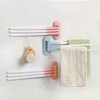 卫生间免打孔毛巾挂架厨房浴室粘胶置物架晾毛巾架抹布架毛巾杆