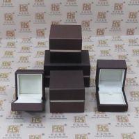 咖啡色拉丝纹皮盒,高档首饰盒,珠宝包装盒定制厂家