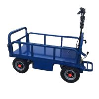 果园用移动平板运输车可定制电动搬运拉货车倒骑式平板车卡博恩直销