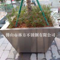 清远市政绿化工程定做不锈钢花盆 苗圃花箱供应 林方不锈钢花器加工