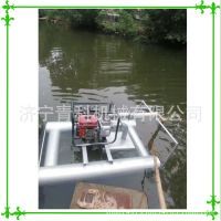 浮筒船式挖藕机 藕田汽油自动采藕机 荷藕收获机械 高压喷流