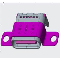 USB CF TYPE-C 24P 带双耳 螺丝固定孔 双排SMT 双包壳