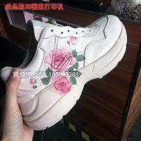 广州运动鞋弧面彩色印花机 凹凸高喷印不散墨