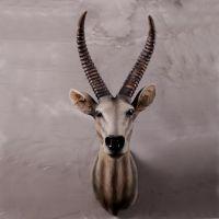 供应美式山羊头壁挂 仿真动物造型 创意招财墙壁挂件家居装饰品