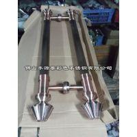 豪华装饰镀铜不锈钢拉手报价 2米长高端不锈钢镀铜拉手生产厂家