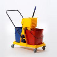 白云清洁AF08073 双桶榨水车榨水桶 46L洗拖把桶手压式挤水桶酒店