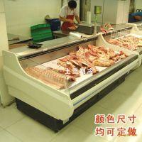 上海超市冷鲜肉柜 上雪鲜肉展示柜价格 定做生鲜保鲜柜厂家