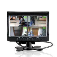 7寸台式四分割显示器 支持四路视频同时显示 高清车载影像显示屏
