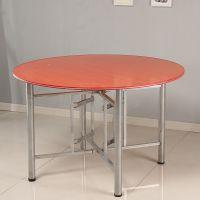 可折叠桌架子大圆桌脚支架酒店桌子腿方架子玻璃桌支架弹簧十字架