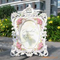 家居饰品混批日韩热销田园玫瑰树脂欧式相框婚纱礼物