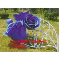广州豪晋 玻璃钢园林景观植物玫瑰雕塑 厂家直销