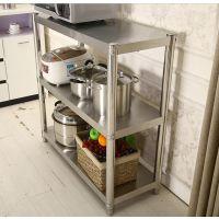 商用用品碗架支架不锈钢厨房置物架货物用具调节橱柜新款食堂整体