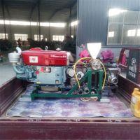 周口市柴油机带动膨化机 流动方便三轮车玉米面粉机 赶集边走边卖米棍