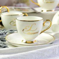 唐山奥美瓷业批发骨质瓷咖啡杯碟 创意下午茶杯