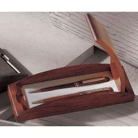 胡桃木双笔 胡桃木笔 高档笔盒 工厂直供量大价优 黑胡桃木笔