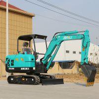 玉柴20小挖机挖掘机小型尺寸市政电缆管道微型挖掘机厂家