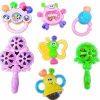 婴儿摇铃玩具热销小天乐2155卡通婴儿摇铃7件套安全益智