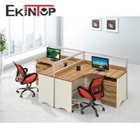 佛山中拓板式办公家具桌椅厂家 简约现代2人位组合职员工作电脑桌
