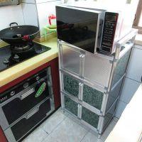 家用铝合金立式拉门碗柜储物柜食品橱柜保洁阳台柜酒店饭店厨房用