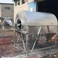 燃气电加热炒货机 宏鑫大型300斤花生芝麻炒锅 每次炒20斤30斤瓜子机价格