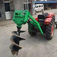 高效拖拉机电线杆挖坑机 新款大直径拖拉机挖坑机