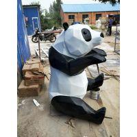 玻璃钢雕塑生产厂家千硕雕塑专业定制玻璃钢动物熊猫雕塑