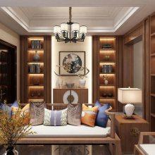 长沙原木整屋订做安装团队、原木书柜、护墙板定制产品案例